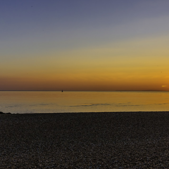 """Solent Sunset _02"" stock image"