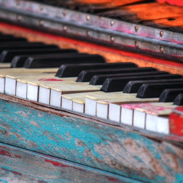 """""""Old Piano"""" stock image"""