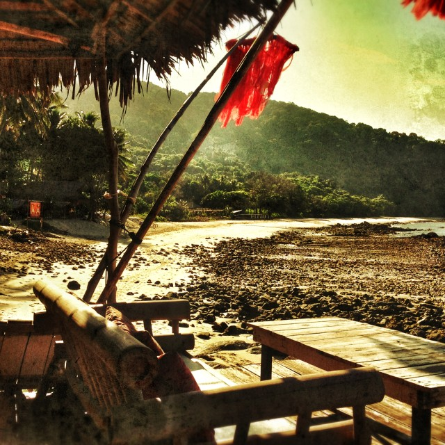 """""""Terrace at beach in Thailand"""" stock image"""