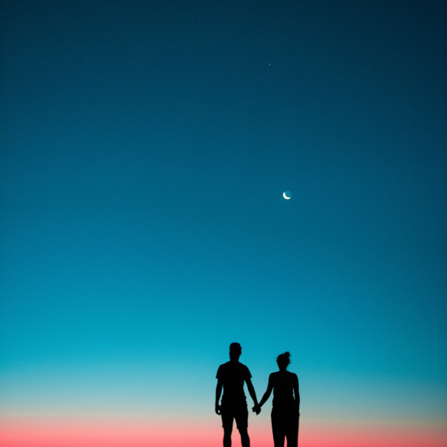"""Sunset love"" stock image"