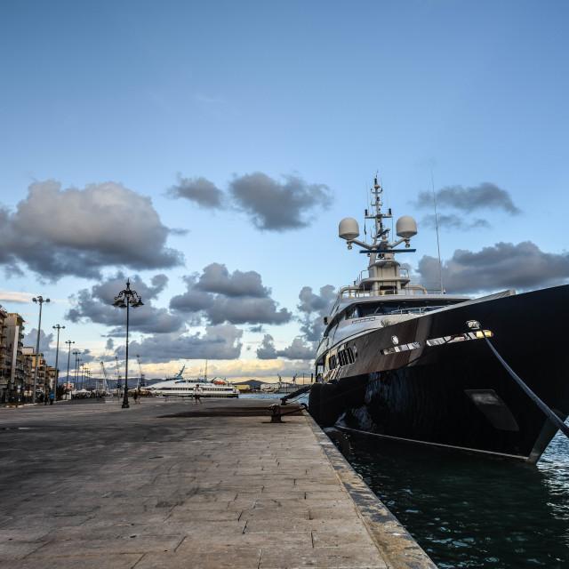 """Luxurious Yacht"" stock image"