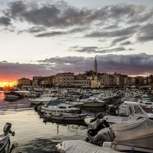 """""""Old town sunset"""" stock image"""