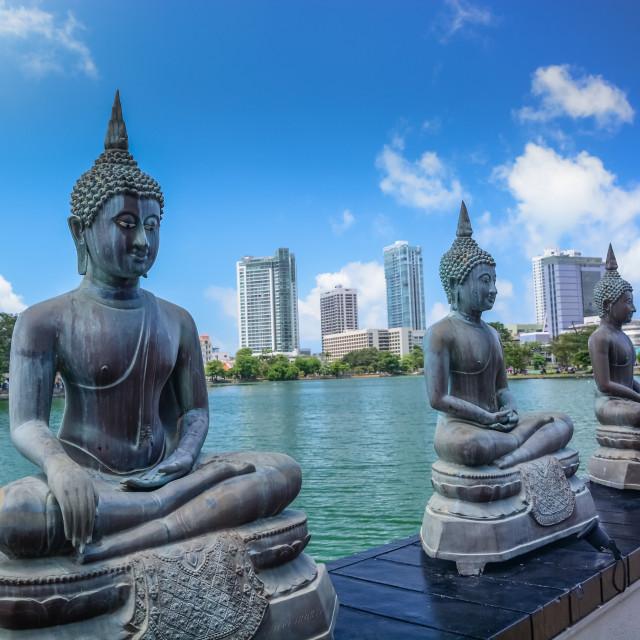 """Colombo, Sri Lanka - The Seema Malaka Temple in Colombo"" stock image"