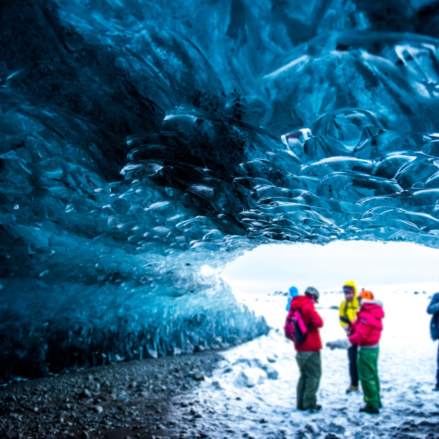 """Ice caves in Iceland"" stock image"