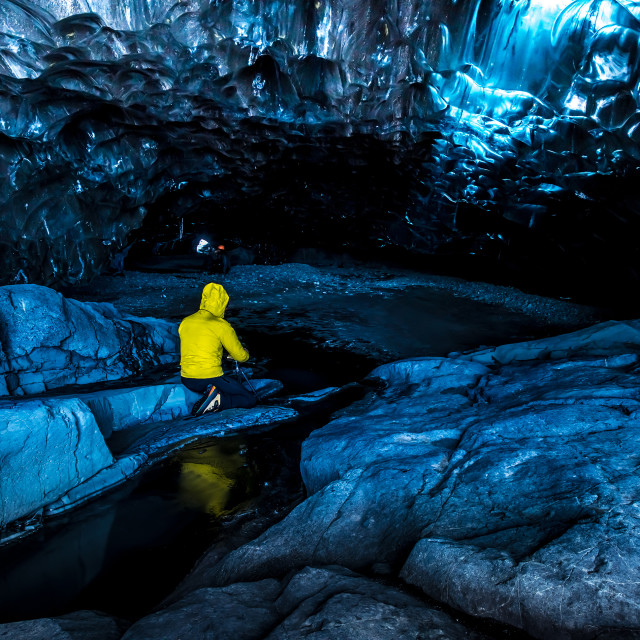 """""""Ice caves in Iceland"""" stock image"""