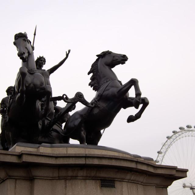 """Statue of Boudicca"" stock image"