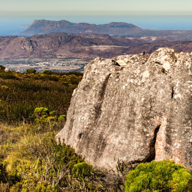 """Table Mountain view"" stock image"