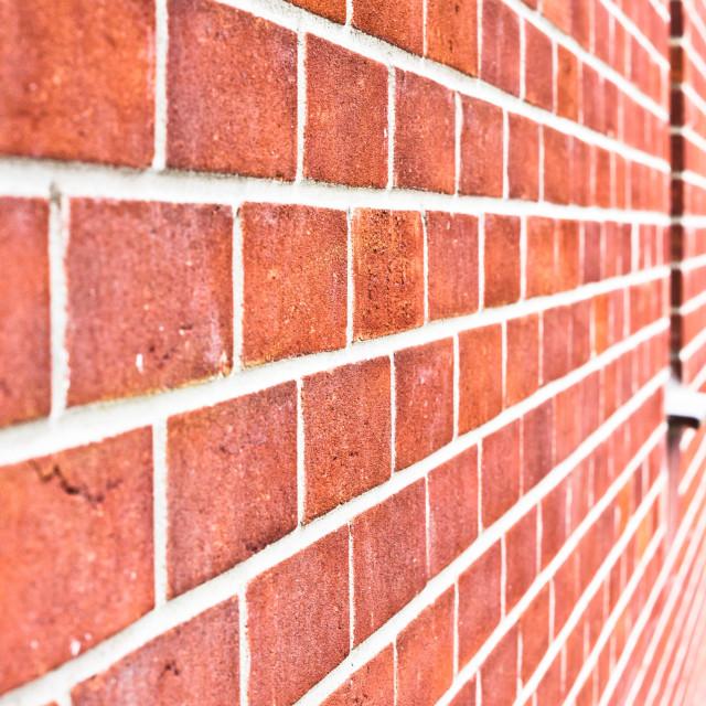 """""""Modern brick wall"""" stock image"""