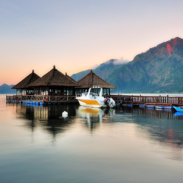 """Floating Resort in Kintamani Bali"" stock image"