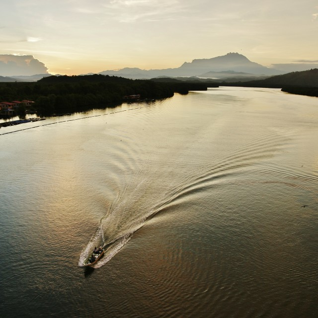 """Mengkabong River, Sabah"" stock image"