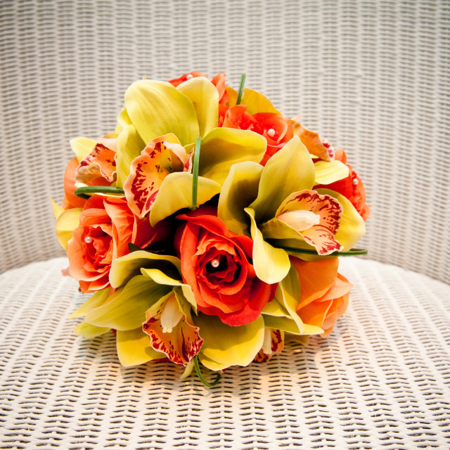 """Orange and Yellow Bouquet"" stock image"