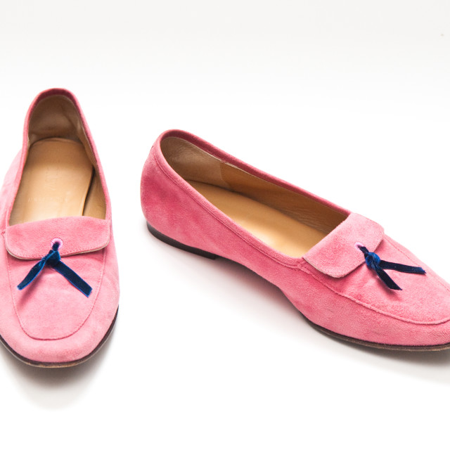 """Pink Suede Shoes"" stock image"