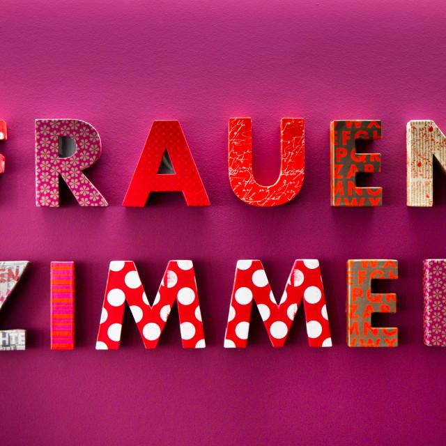 """""""Frauen Zimmer"""" stock image"""