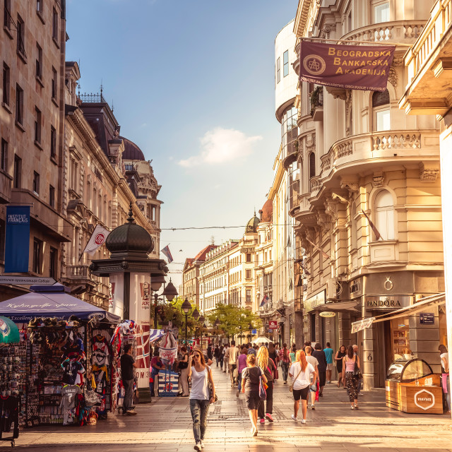 """Knez Mihailova Street. Serbia, Belgrade"" stock image"