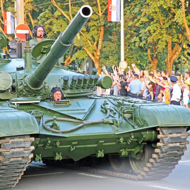 """Croatian military parade, Zagreb 2015. 15"" stock image"