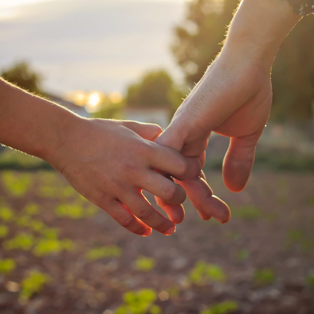 """""""Hand in hand"""" stock image"""