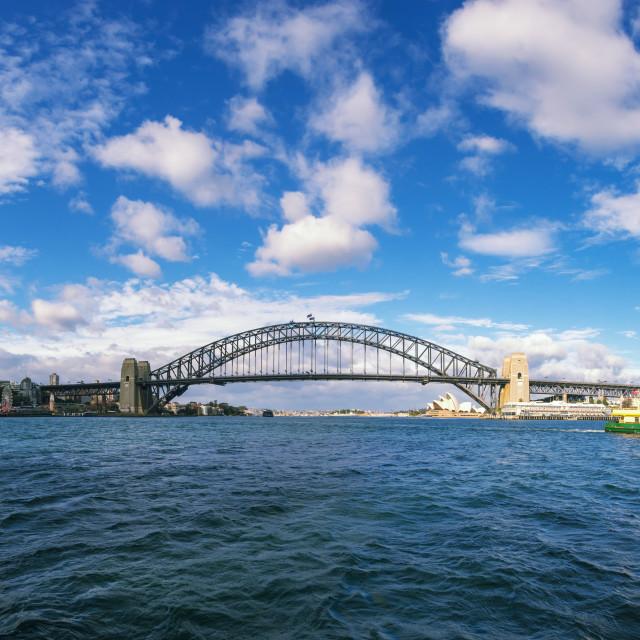 """Sydney harbor bridge and opera house"" stock image"