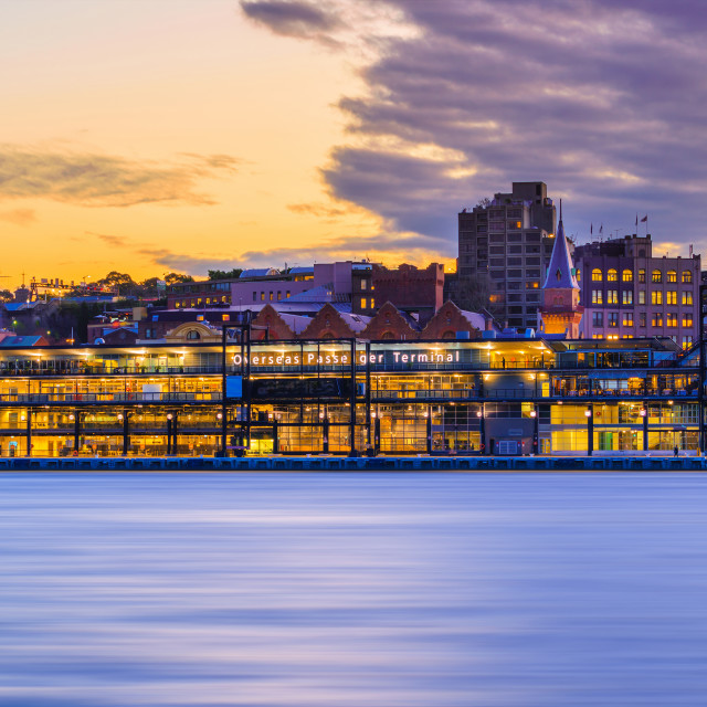 """Sydney in sunset"" stock image"