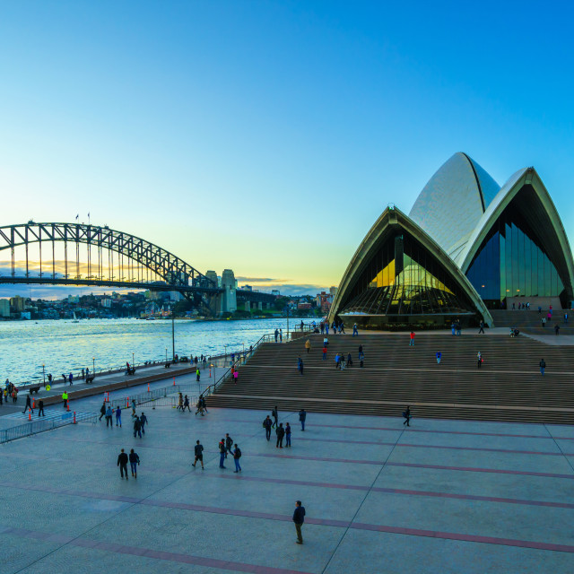 """Sydney opera house in sunset"" stock image"