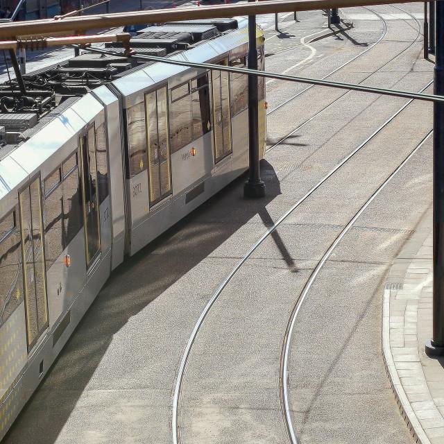 """Manchester Tram"" stock image"