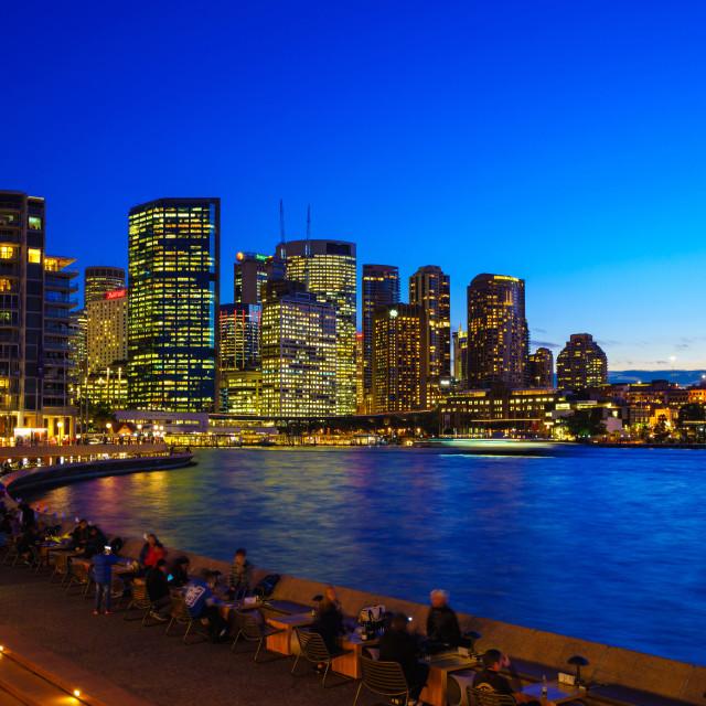 """Sydney in twilight"" stock image"