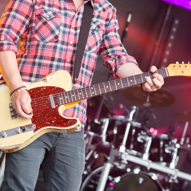 """guitarist on stage"" stock image"