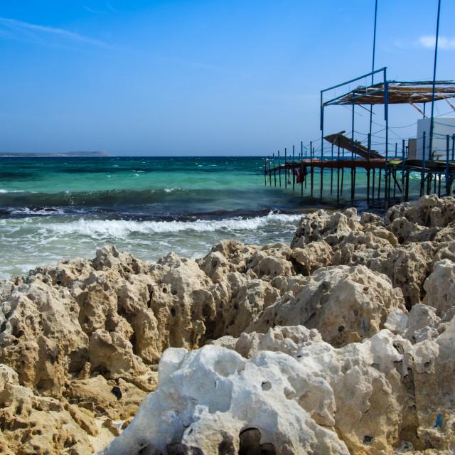 """Makronissos beach Cyprus island"" stock image"