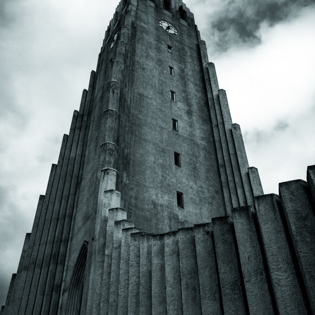 """Cathedral of Reykjavik"" stock image"