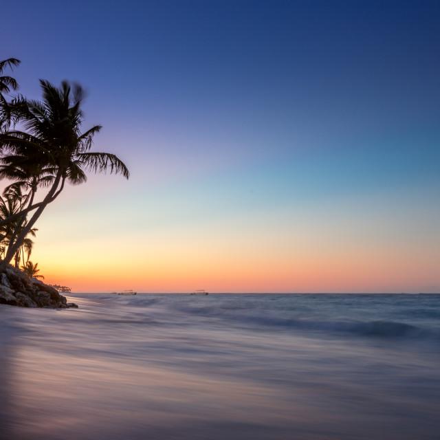 """Sunrise on a tropical island"" stock image"