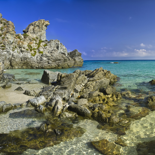 """""""Big landscape of beach paradiso del sub Zambrone (Vibo Valentia) Calabria Italy"""" stock image"""