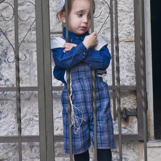 """Jewish ultra orthodox child"" stock image"