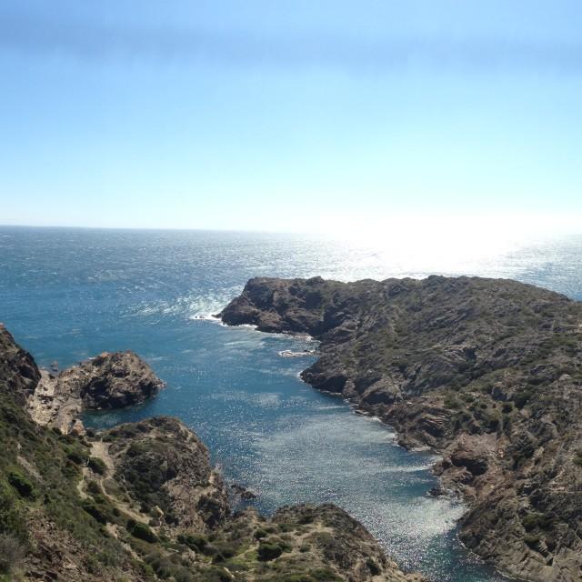 """Panoramic view of Cap de Creus close to Cadaques"" stock image"