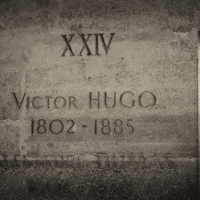 """Grave of Victor Hugo"" stock image"