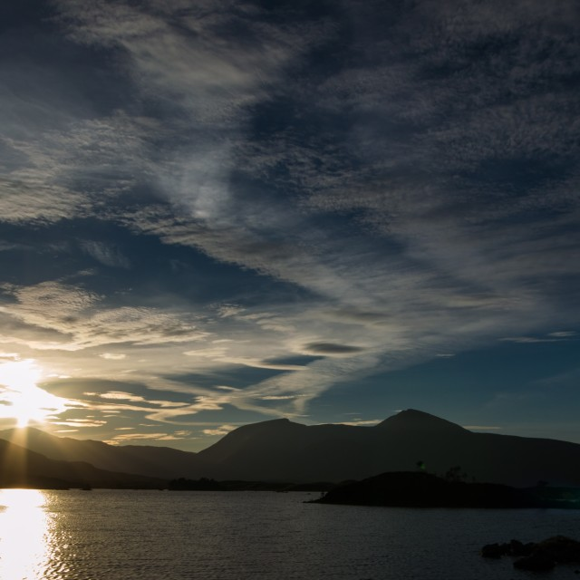 """Rannoch Sunset"" stock image"