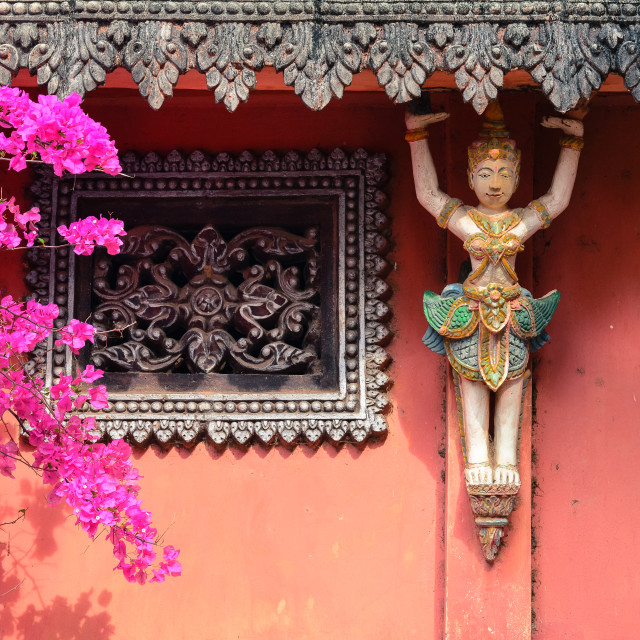 """""""Decoration of Khmer temple in Vietnam"""" stock image"""