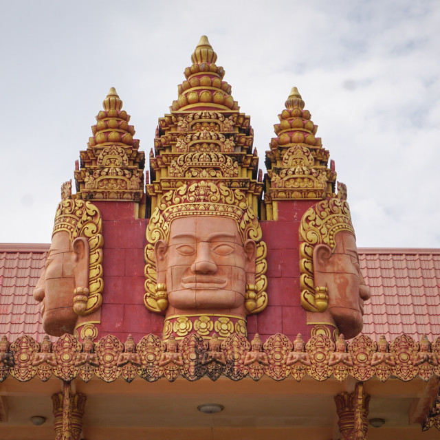 """Khmer temple in Mekong Delta, Vietnam"" stock image"