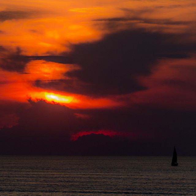 """Sailing into the sunset..."" stock image"
