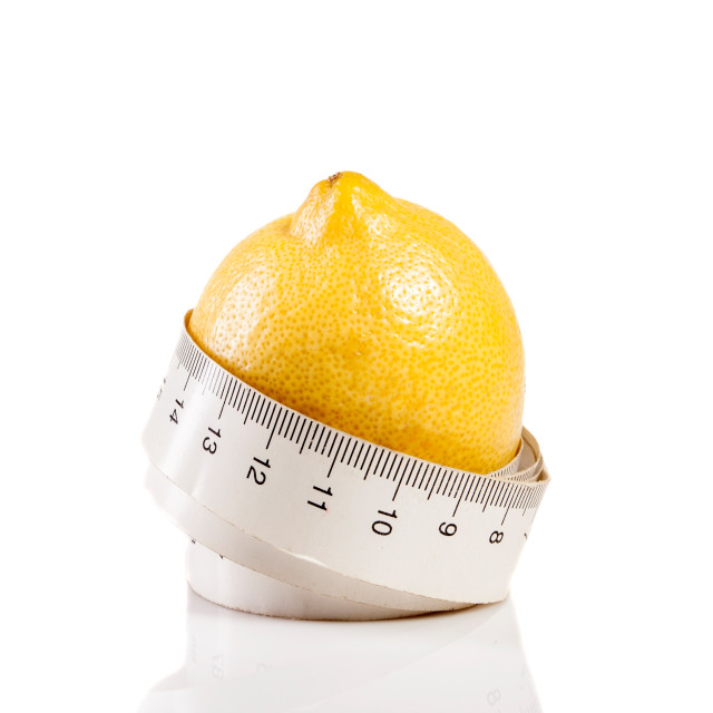 """measure tape with lemon"" stock image"