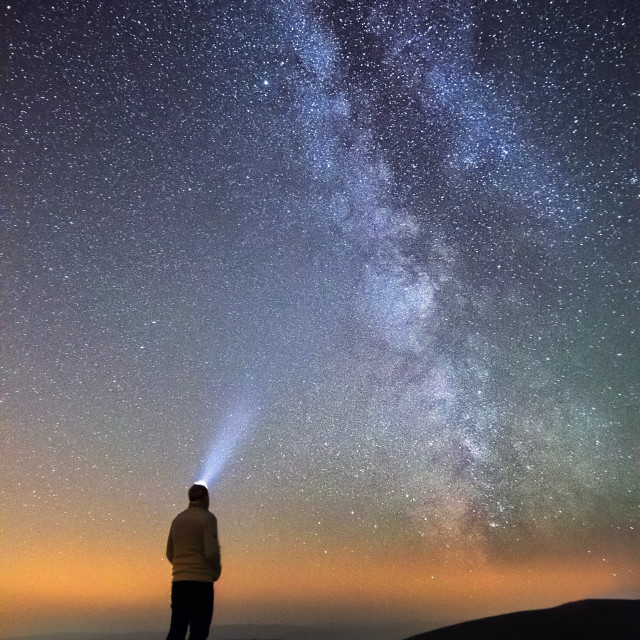 """The Milky Way from the UK"" stock image"