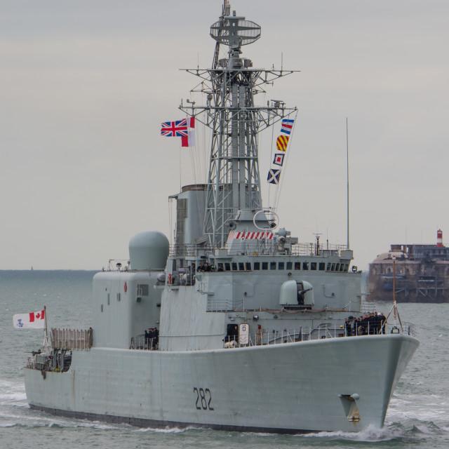 """HMCS Athabaskan"" stock image"