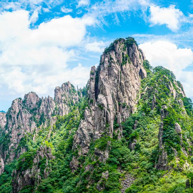 """Huangshan Mountain"" stock image"