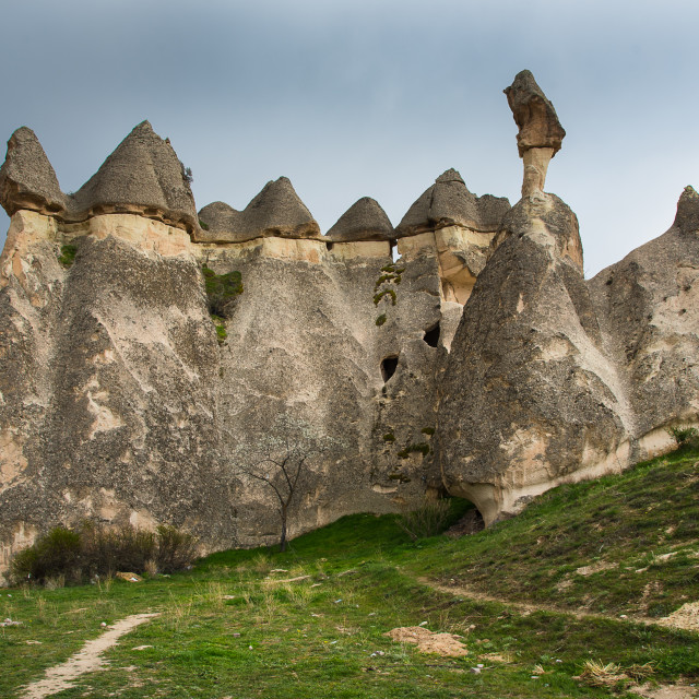 """Fairy Chimneys near Goreme"" stock image"