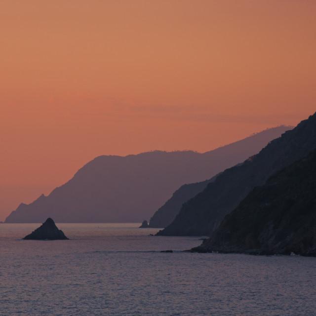 """Monesteroli at sunset"" stock image"