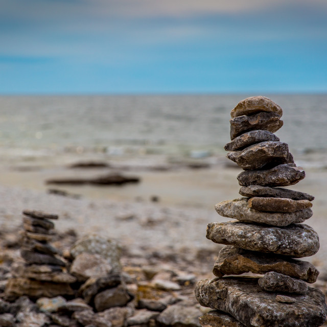 """""""Stones n Beach"""" stock image"""