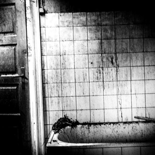 """""""Abandoned bathroom"""" stock image"""