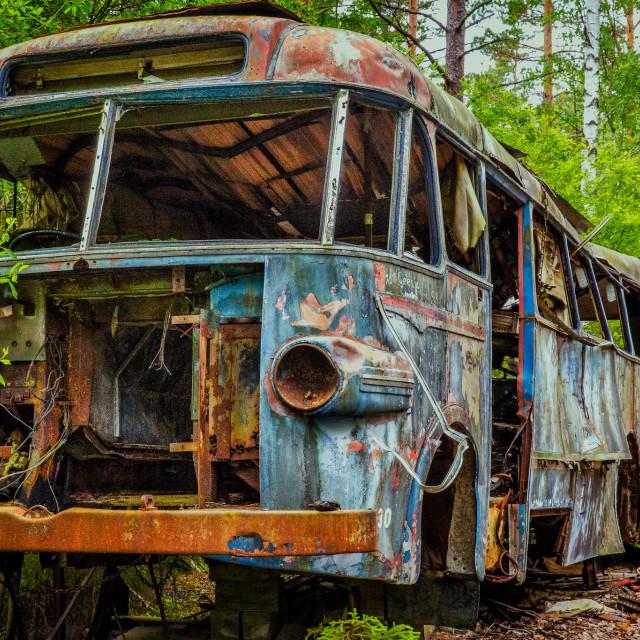 """""""Abandoned Bus"""" stock image"""