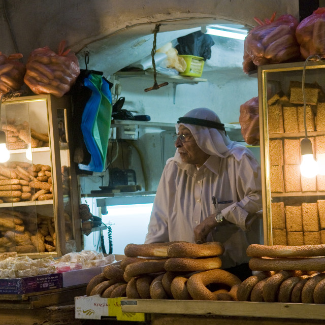 """Palestinian bread seller"" stock image"
