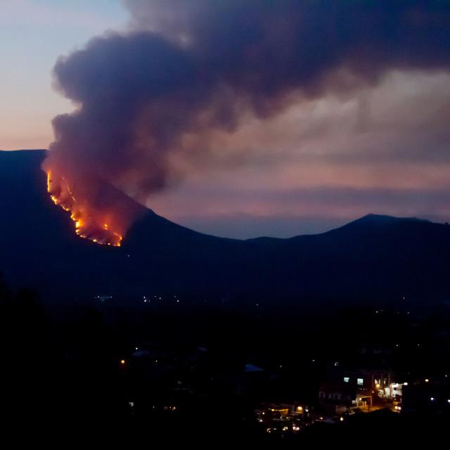 """""""Burning Volcano"""" stock image"""