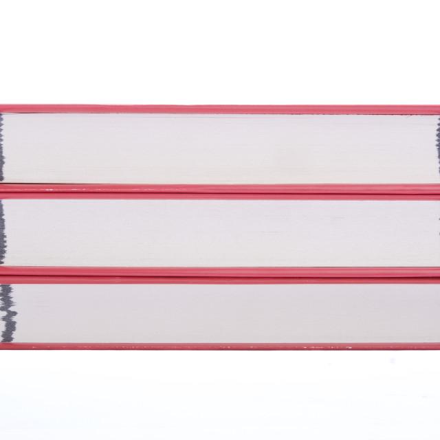 """Three red books"" stock image"