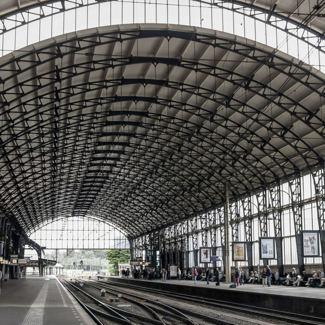 """Haarlem, Train station"" stock image"